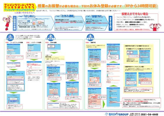 らくらく予約システムご利用の手順 ページ1